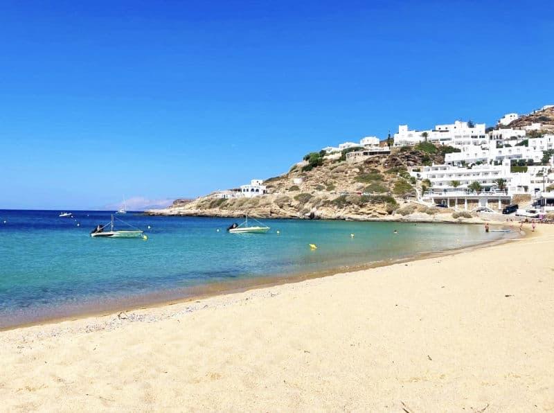 mylopotas beach ios island greece
